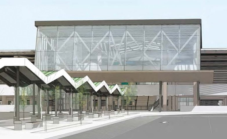 Rendering of Bloomington GO Transit Station