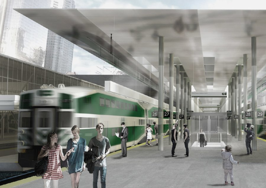 Rendering of GO Transit Union Station Revitalization Project